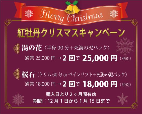 紅牡丹クリスマスキャンペーン